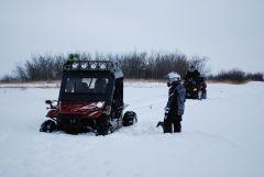 Stuck in a snow drift
