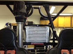 Front side - intercooler and snorkel