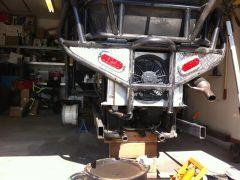 Rear frame rails