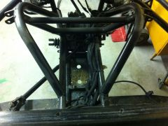 Front Shock loops top view