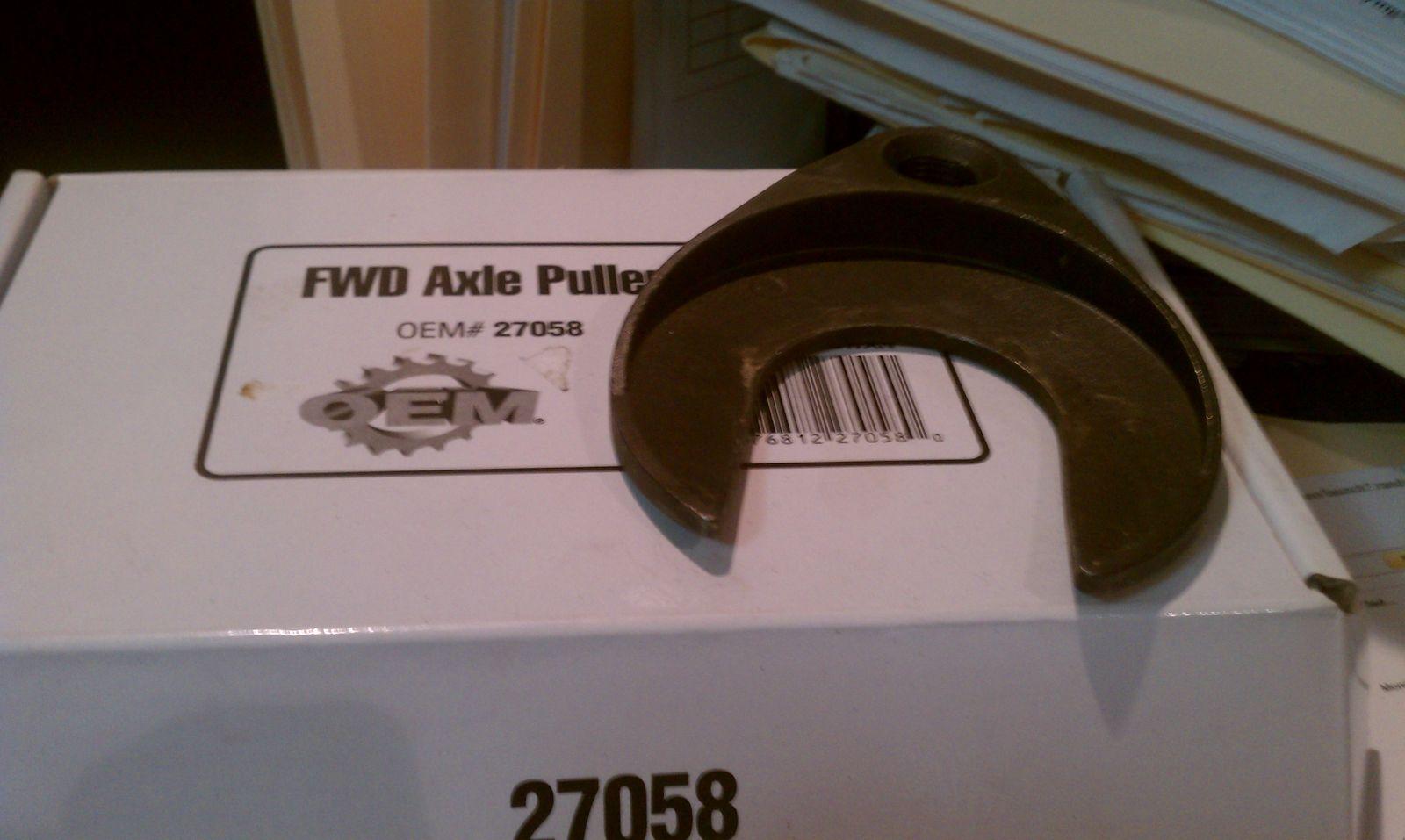 FWD Axle Puller - Autozone
