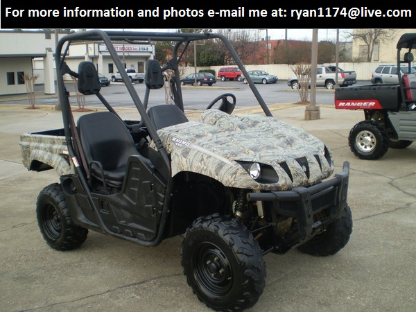 for sale 2007 yamaha rhino 450 4x4 camo edition utv off road classifieds buy sell. Black Bedroom Furniture Sets. Home Design Ideas