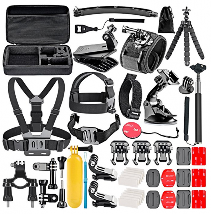 Action Camera Accessory Kit for GoPro Hero