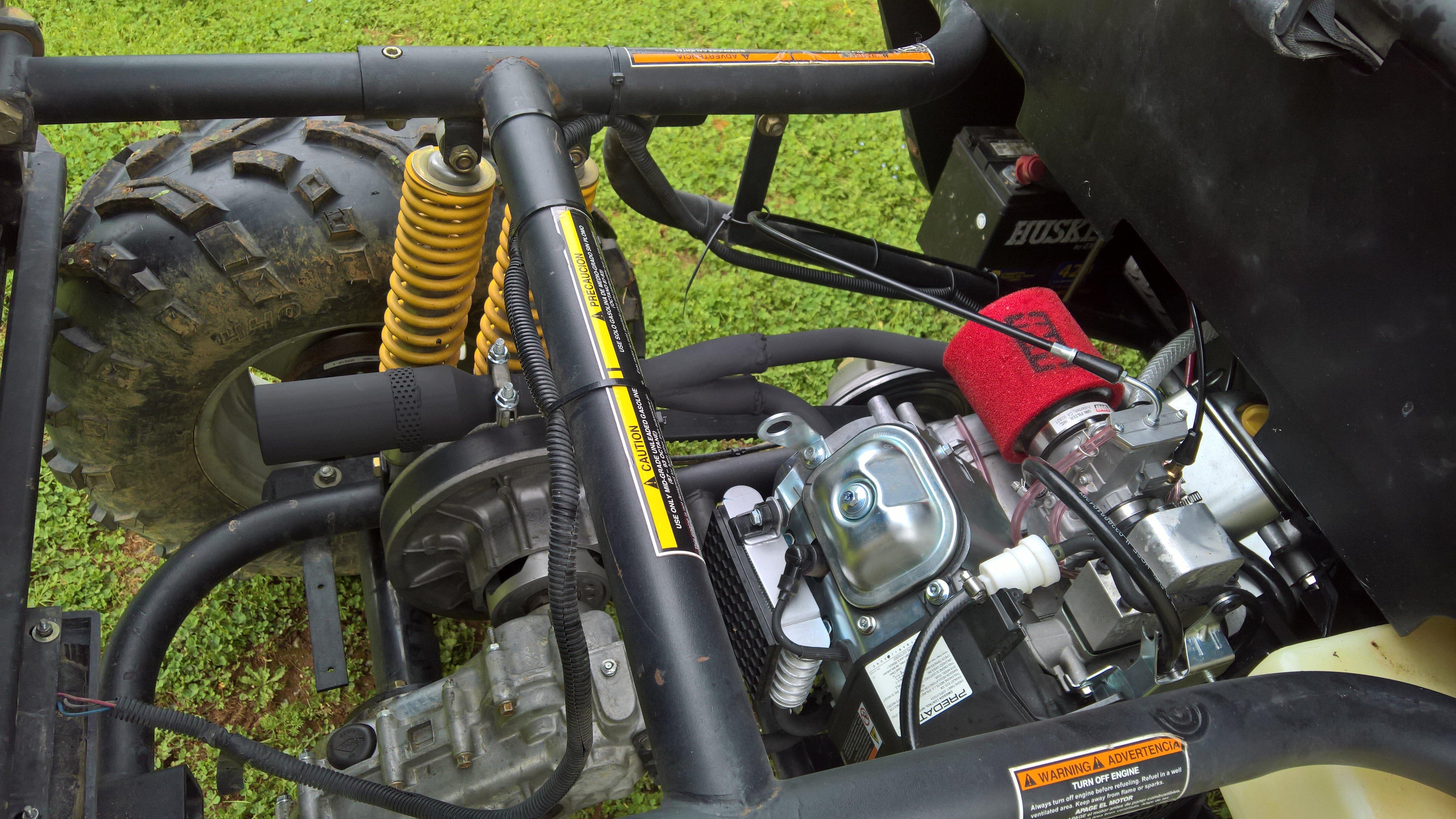 American Sportworks 650 2wd engine swap, to Predator 670