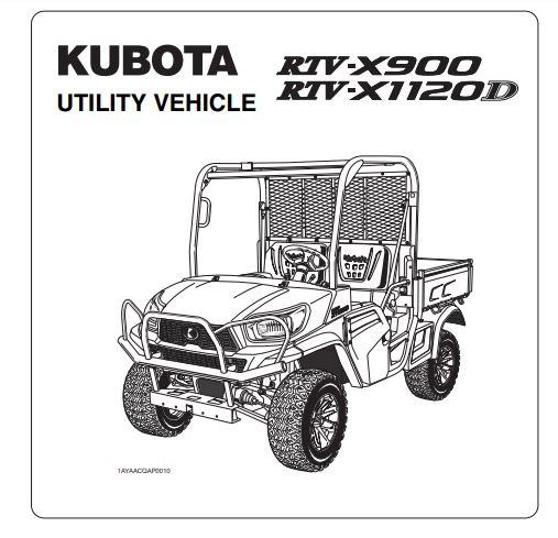 Kubota RTV 900 Service and Owner's Manuals